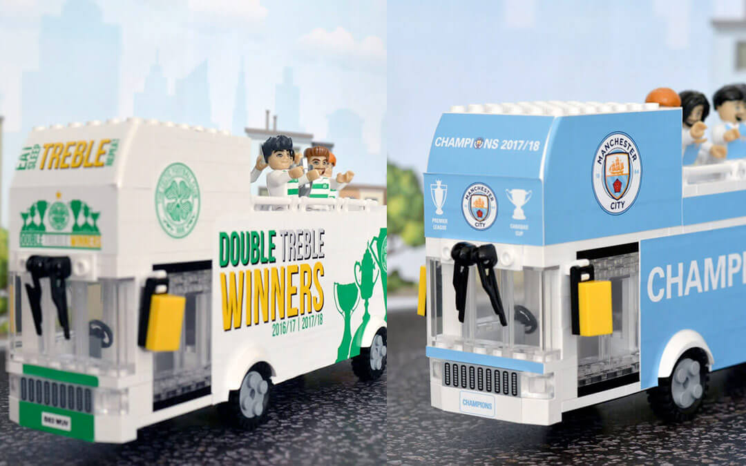 Jasmine rolls out Celtic and Manchester City parade buses